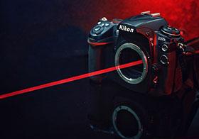黑色的数码摄像机