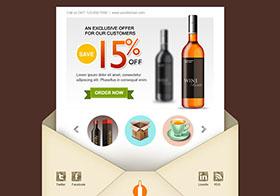 红酒优惠广告的界面UI设计