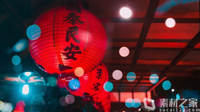 节日红灯笼矢量图