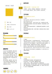 创意时间轴UI设计师简历模板