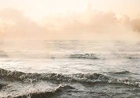 海边浪花的高清图