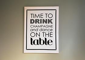 香檳金酒的宣傳海報