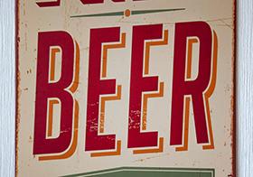 啤酒的宣傳海報