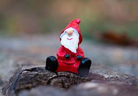可愛的圣誕老人模型
