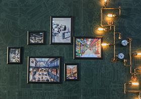 创意照片墙封面高清图