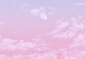 粉红色的云唯美背景高清图