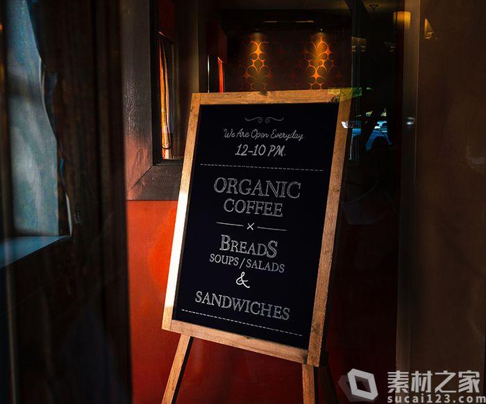 餐厅黑板广告牌