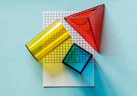 彩色透明立体几何模型