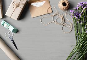 礼物包装材料实物高清图