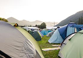 野外帐篷露营高清图