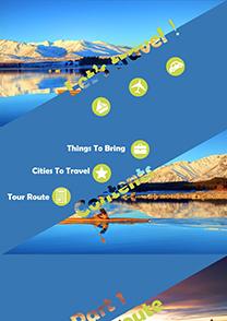 旅游景點行程介紹PPT模板