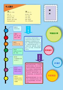 创意彩色UI设计师简历模板