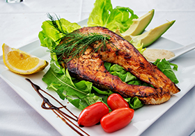 美味健康的烤鱼块