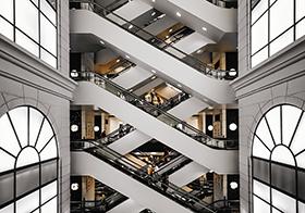 城市商場電梯建筑高清圖