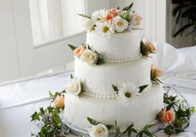 唯美温馨结婚蛋糕高清图