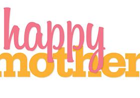 彩色母亲节快乐横幅