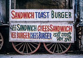 三明治吐司汉堡横幅高清图