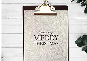 圣诞快乐银色海报高清图