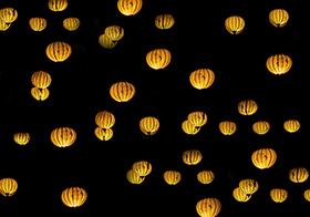 节日喜庆黄色灯笼高清图