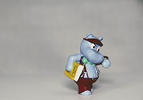卡通人偶玩具河馬模型
