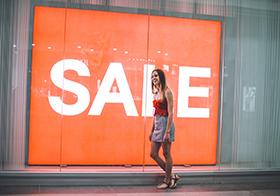 SALE折扣LED广告屏