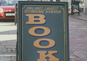 書店的小黑板宣傳廣告