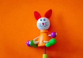 木制彈簧卡通玩偶老鼠