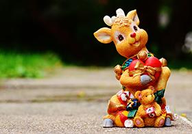 圣誕馴鹿玩偶擺件