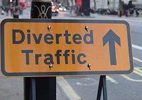 道路交通分流横幅