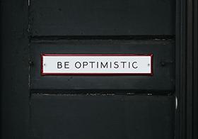 保持乐观白色横幅