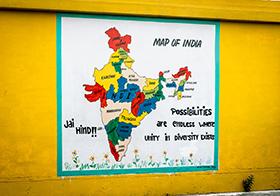印度版图地图海报