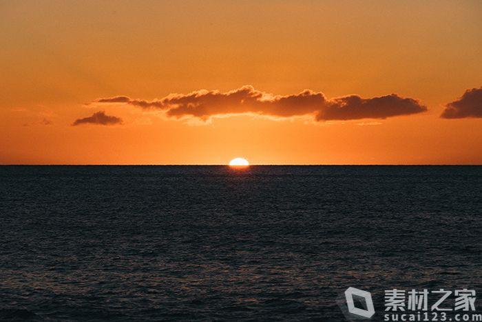 海上日出美景高清图