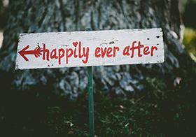 从此幸福白色木板Banner
