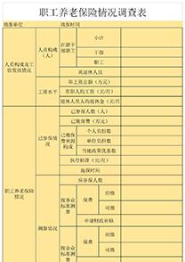 职工养老保险情况调查表
