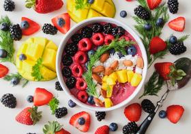 夏日自制水果奶昔高清图