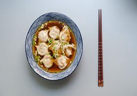 家常美食清汤水饺高清图