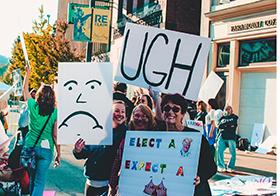 抗议特兰特选举创意Banner