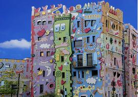 可爱的波普风房子高清图