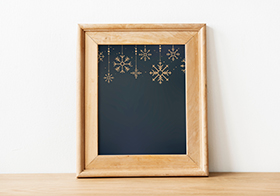 棕色相框圣诞节海报