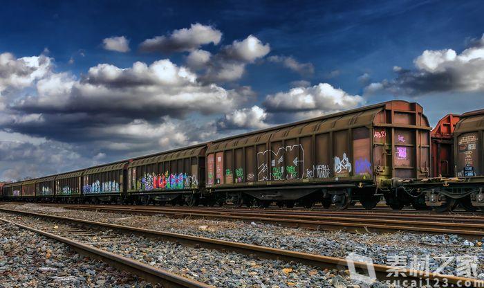 火车车厢创意涂鸦海报