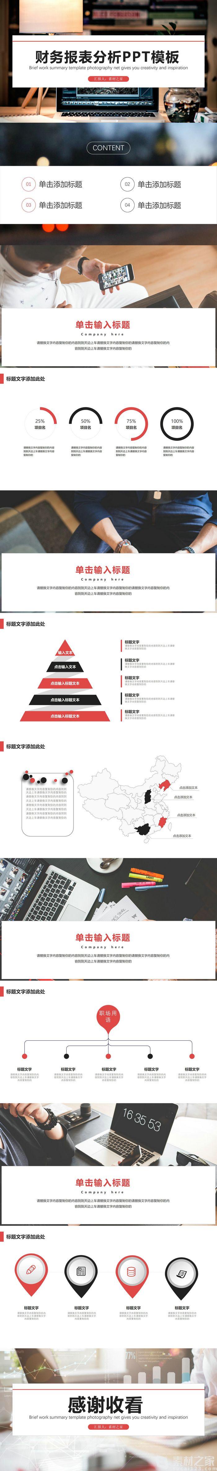 財務報表分析PPT模板