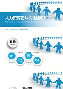 人力资源团队文化建设PPT模板