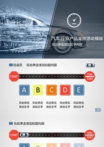 汽车行业产品宣传活动策划PPT模板