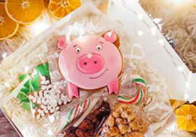 可爱卡通粉红小猪礼物
