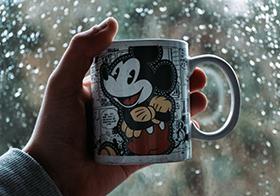 迪士尼米老鼠水杯