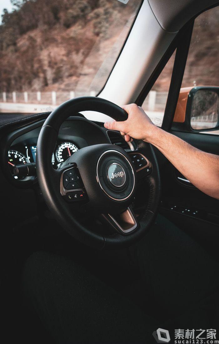 Jeep吉普汽车方向盘高清图