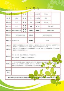 綠色清新會計師表格簡歷模板