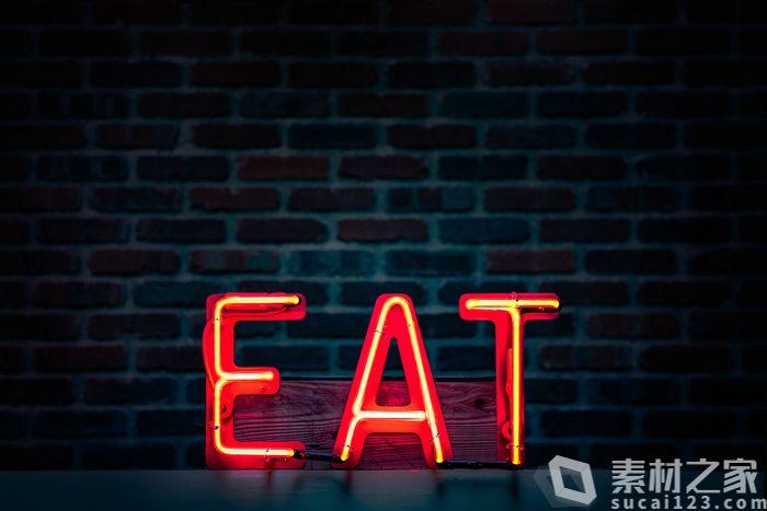霓虹灯广告立体字母