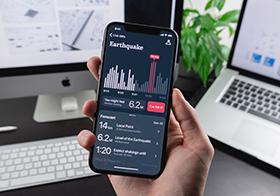 手機地震監測界面UI設計