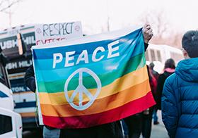 和平彩色旗幟Banner